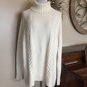 NWOT American Eagle XXL Cream Cable Knit Sweater